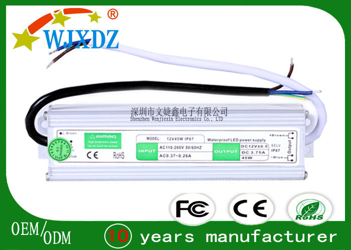 Industrial Machine 12 volt led driver , high Efficiency led power supply ip67