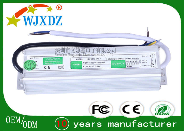 Overload Protection 45W Waterproof Switching Power Supply for LED Lamp