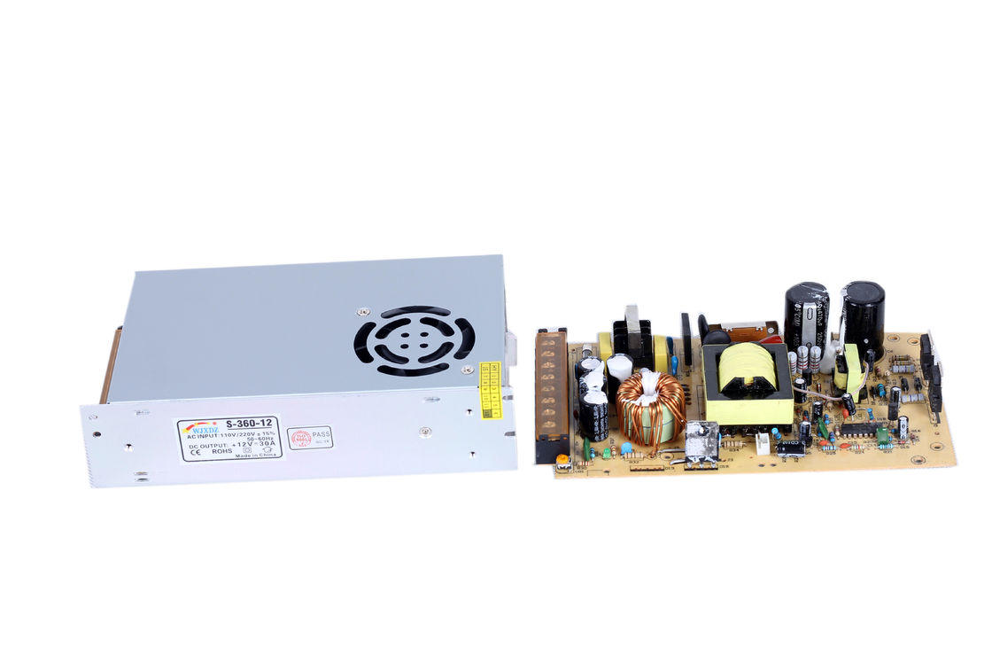 Indoor Outdoor 30A 360W AC DC Switching Power Supply Low Ripple & Noise
